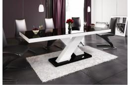 stół-rozkładany-stół-połysk-czarny-biały-stół-nowoczesny
