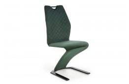 Pikowane krzesło nowoczesne z tkaniny velvet Fangor, krzesła nowoczesne fangor