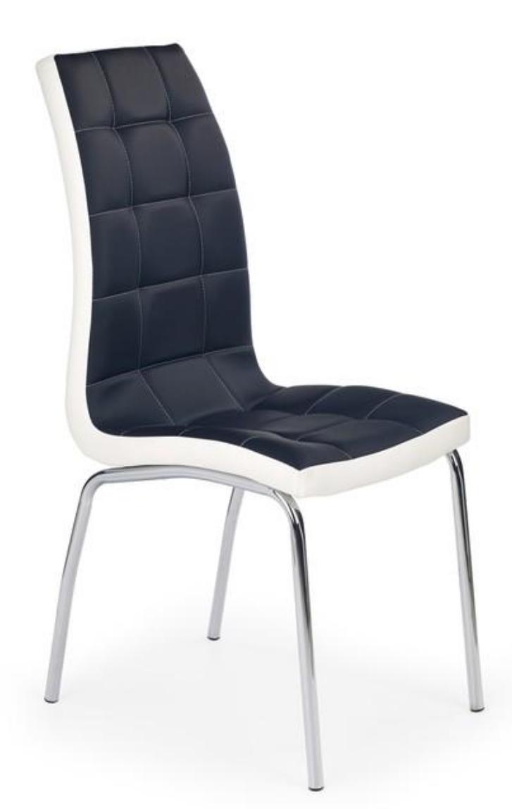 Pikowane Krzesło Magnus Krzesło Czarno Białe Nowoczesne