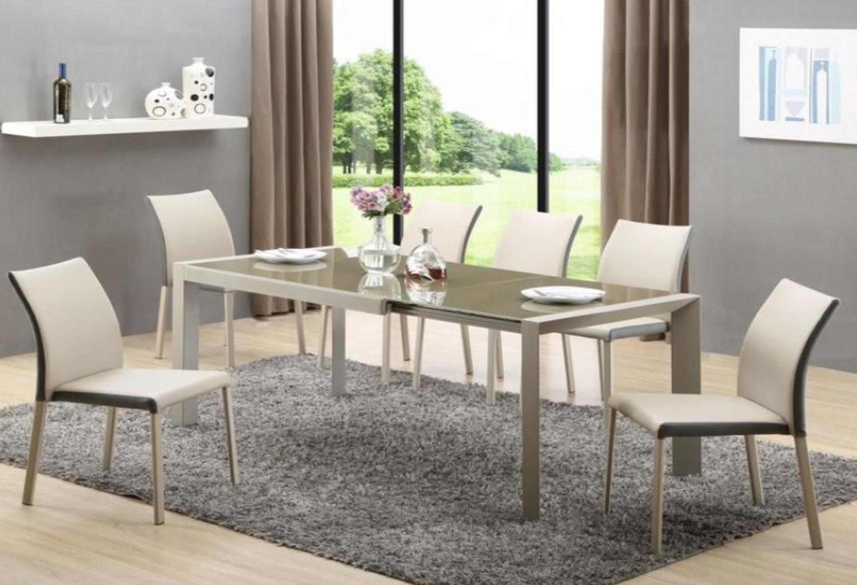 Bardzo dobra Stół szklany Emilio, stół połysk, nowoczesny stół do jadalni, stół, FY96